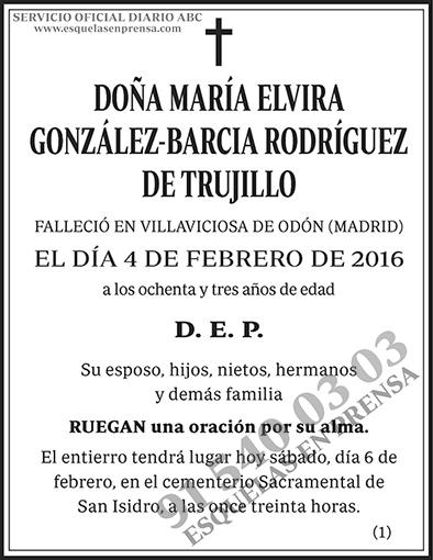 María Elvira González-Barcia Rodríguez de Trujillo